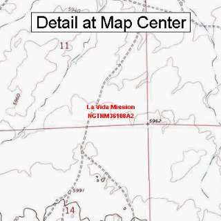USGS Topographic Quadrangle Map   La Vida Mission, New