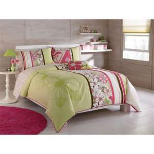 Roxy room bedding set kelly colorblock full size bed in a bag