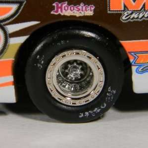 64 Dirt Late Model   Chrome Beadlock Upgrade   For ADC Diecast