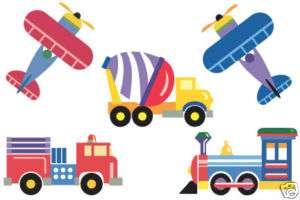 Olive Kids Plane, Trains & Trucks Mini Mural 13414