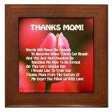 Thanks Mom Poems Framed Art Tiles  Buy Thanks Mom Poems Framed Tile
