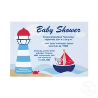 Cute boy elephant sailor baby shower stickers from Zazzle