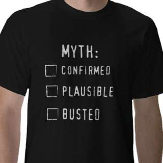 Confirmed/Plausible/BUSTED Tee Shirts from Zazzle