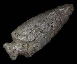 Ancient Arrowhead DRYBROOK FISHTAIL Point Indian Artifact