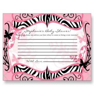 Writable Advice Card Girly Butterfly Zebra Print Postcard from Zazzle