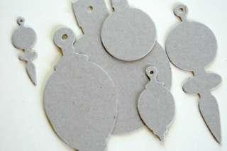 44 04400 Melissa Frances Scrapbooking Retro Chipboard Ornaments
