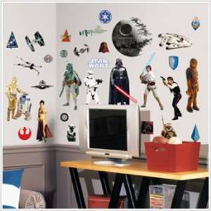 CLASSIC STAR WARS WALL DECALS Movie Stickers Decorations Bedroom Decor