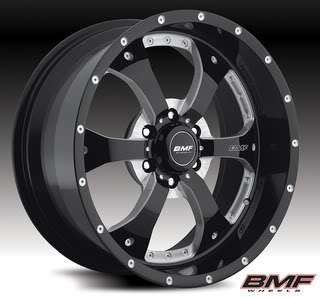 BMF NOVAKANE DEATH METAL WHEELS W/ NITTO MUD GRAPPLER TIRES AND LUGS