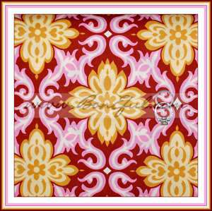 BOOAK Fabric AMY BUTLER Heart Pink BROWN Damask GOLD Lotus Temple