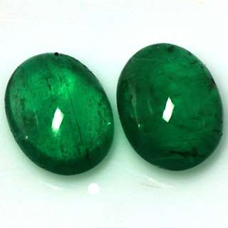 66cts NATURAL TOP GREEN EMERALD LOOSE GEMSTONE OVAL CAB ZAMBIAN 2