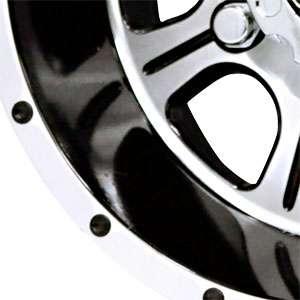 New 12X7 4 110 Raceline Monster Atv Black Machined Face Wheels/Rims