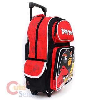 Angry Birds School Roller Backpack /16 Rolling Bag /Trolley  3 Birds