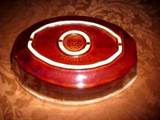 Vintage McCoy 9 BROWN DRIP Oval Baking Dish GREAT