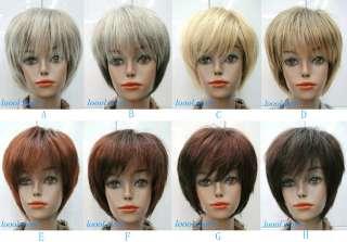 Straight Wig BOB Head Style Women Lady Girl Daily Wear Hair Wig