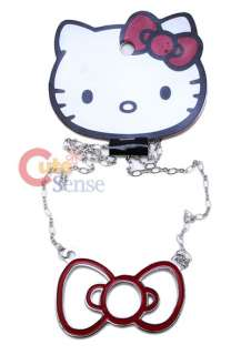 Sanrio Hello Kitty Big red bow Necklace Loungefly 1