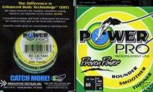 Power Pro Spectra braided fishing line 80 lb 300 y grn