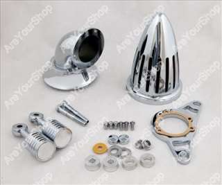 High Quality Chrome Billet Aluminum Cone Spike Air Cleaner Kit