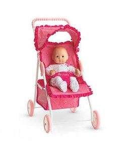 New American Girl Bitty Baby Doll Pink Stroller Retired Same Day