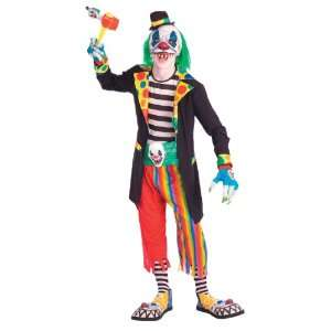 Teen Scary Evil Clown Costume   Teen Boys (up to chest