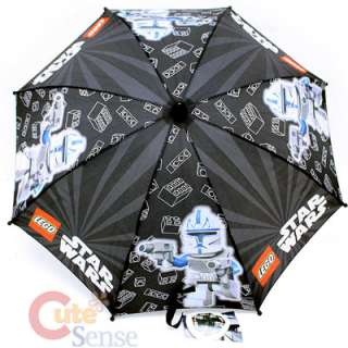 Star Wars Lego Clone Kids Umbrella with Lego Logo Handle