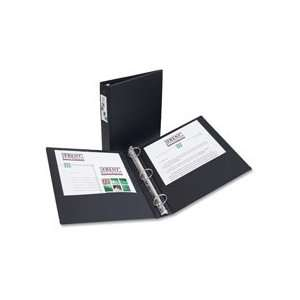 Economy Ring Binder W/Labelholder, 3 Capacity, Black Qty