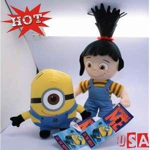 Despicable Me Plush ToyS minions Stuart 6& Agnes 9