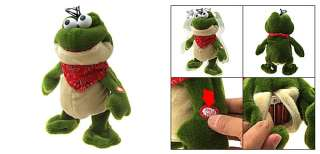 Cute Green Plush Dancing Singing Cartoon Frog Kids Toy