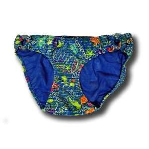 Amanda Bynes Dear Swimwear Girls Bikini Bottom Brief Summer Blue Size