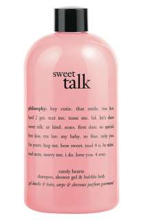 philosophy sweet talk candy hearts shampoo, shower gel & bubble bath