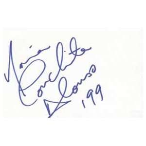 MARIA CONCHITA ALONSO Signed Index Card In Person