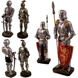 Wholesale Lot of 24 New Knights With Suits of Medieval Roman Armor