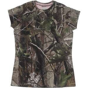 Realtree APG Womens Short Sleeved Camo Tee Hunting