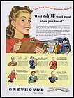 1946 Greyhound Bus Travel Old South Dixie Black Mammie Banjo Print Ad