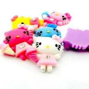 Upick Hello Kitty Dress Ice Cream Sweet Resin Flatback Cabochon