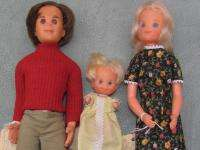 1970s Mattel Steve, Stephanie & Baby Sunshine Family dolls   Set of 3
