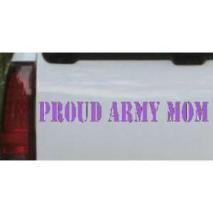 8in X 1in Purple    Proud Army Mom Military Car Window Wall Laptop