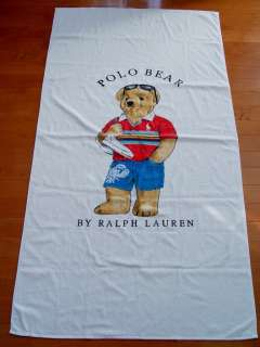 NEW Ralph Lauren POLO BEAR Beach Bath XL Towel
