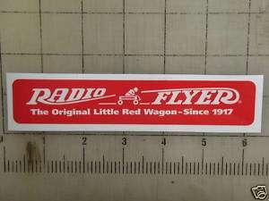 Vintage Radio Flyer sticker decal sign 6x1.1