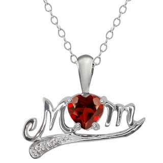 56 Ct Genuine Heart Shape Red Garnet 925 Sterling Silver Pendant
