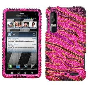 Rocker Crystal BLING Hard Case Phone Cover for Verizon Motorola Droid