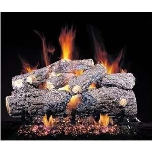 Peterson Gas Logs 16 Inch Burnt Rustic Oak Vented Propane Gas Log Set