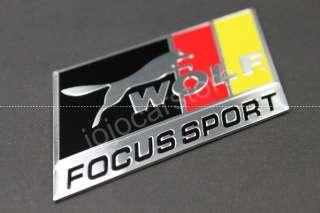 P14 WOLF FORD FOCUS LOGO METAL CAR TRUNK EMBLEM BADGE DECAL STICKER