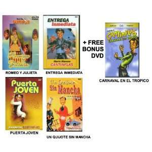 5 Pack Of Cantinflas DVDs Romeo y Julieta / Entrega