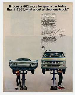 1972 AT&T Bell Telephone Truck Repair Costs Ad