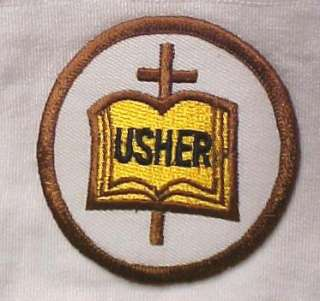 Usher White Nylon Church Gloves Bible Cross Embroidery