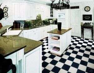 12 Black White Checkered Vinyl Flooring Garages Diners