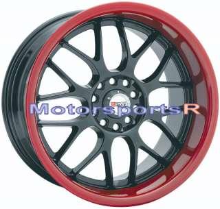 17 XXR 006 Rims Wheels Black Red Lip Mitsubishi Lancer