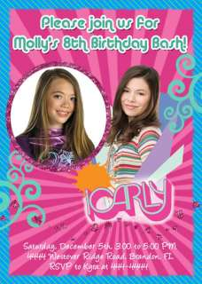 ICARLY WIZARDS OF WAVERLY PLACE BIRTHDAY INVITATIONS