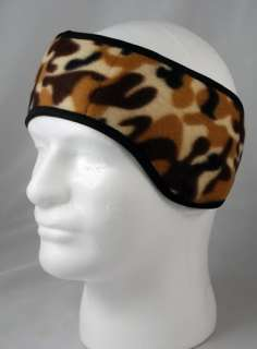 NEW EAR MUFF HEADBAND WARMER Brown CAMOUFLAGE CAMO