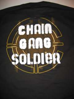 JOHN CENA Raw Chain Gang Soldier WWE T shirt New